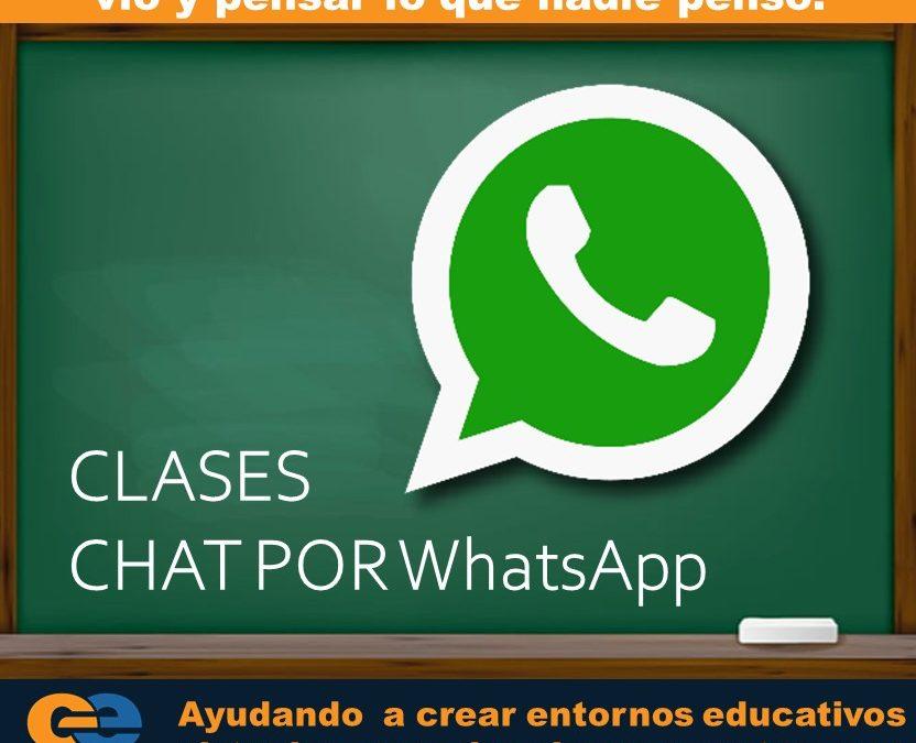 Clases virtuales por chat de WhatsApp